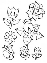 Kleurplaten Bloemen Tulpen.Kleurplaten Bloemen Topkleurplaat Nl