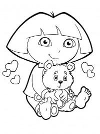 Grote Kleurplaten Dora.Dora Kleurplaten Topkleurplaat Nl