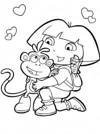 Kleurplaten Dora En Friends.Dora Kleurplaten Topkleurplaat Nl