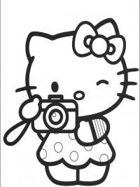Kleurplaten Hello Kitty Met Hartjes.Hello Kitty Kleurplaten Topkleurplaat Nl
