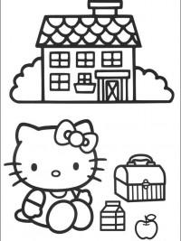 Kleurplaten Van Hello Kitty Zoeken.Hello Kitty Kleurplaten Topkleurplaat Nl