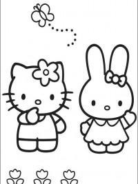 Hello Kitty Kleurplaten Om Te Printen.Hello Kitty Kleurplaten Topkleurplaat Nl