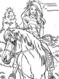 Kleurplaat Paarden En Veulens Archidev