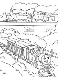 Thomas de trein kleurplaten - Thomas le petit train coloriage ...
