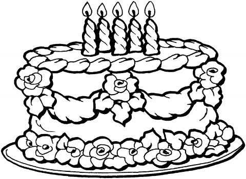 verjaardagstaart 5 kaarsjes