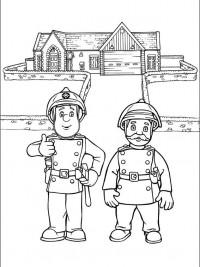 Kleurplaten Sam De Brandweerman.Brandweerman Sam Kleurplaten Topkleurplaat Nl