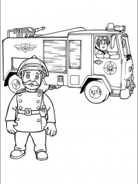 Leuke Kleurplaten Brandweerman Sam.Sam De Brandweerman Kleurplaat