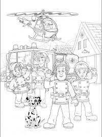 Kleurplaat Cars Brandweer Brandweerman Sam Kleurplaten Topkleurplaat Nl
