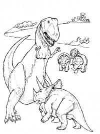 Kleurplaten Tyrannosaurus Rex.Dinosaurus Kleurplaten Topkleurplaat Nl