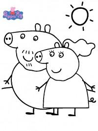 Kleurplaten Peppa Pig.Peppa Pig Kleurplaten Topkleurplaat Nl