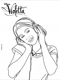 Kleurplaten Disney Violetta.Violetta Kleurplaten Topkleurplaat Nl