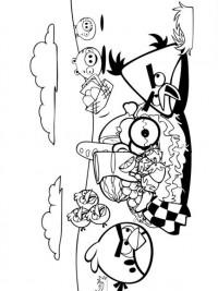 Kleurplaat Konijn Verjaardag Angry Birds Kleurplaten Topkleurplaat Nl