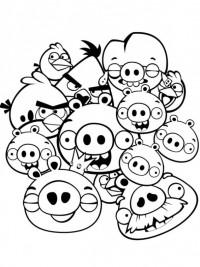Angry Birds Kleurplaten En Zo.Angry Birds Kleurplaten Topkleurplaat Nl