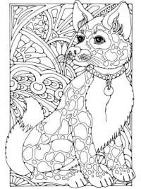 Kleurplaten Voor Volwassenen Honden.60 Kleurplaten Voor Volwassenen Gratis Te Printen