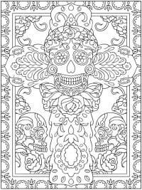 dia de los muertos couple coloring pages - kleurplaten voor volwassenen