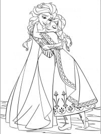 Kleurplaten Elsa En Anna.35 Kleurplaten Frozen 1 2 Gratis Printen