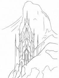 elsa kasteel kleurplaat malvorlage schloss ausmalbild