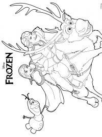 Kleurplaten Kerstmis Frozen.35 Kleurplaten Frozen 1 2 Gratis Printen