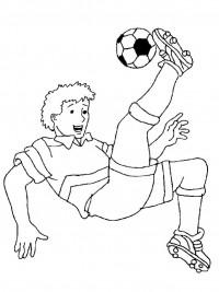 Kleurplaat Konijn Verjaardag Voetbal Kleurplaten Topkleurplaat Nl