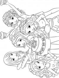 Kleurplaten Dora En Friends.Lego Friends Kleurplaten Topkleurplaat Nl