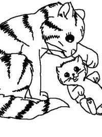 Kleurplaten Honden En Katten.Kleurprenten Poes Topkleurplaat Nl