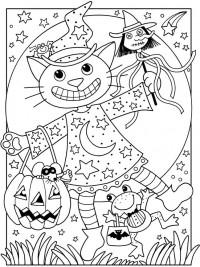 Gratis Kleurplaten Halloween.35 Halloween Kleurplaten En Horror Kleurplaten Topkleurplaat Nl