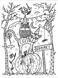 Kleurplaten Halloween Volwassenen.35 Halloween Kleurplaten En Horror Kleurplaten Topkleurplaat Nl