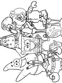 Kleurplaten Printen Spongebob.Kleurplaat Spongebob Printen