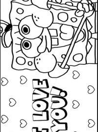 Kleurplaat Spongebob Op Het Droge Archidev