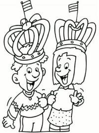 Kleurplaten Koningsdag Peuters.Kleurplaten Koningsdag Topkleurplaat Nl