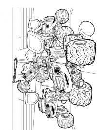 Kleurplaten Printen Monster Truck.Blaze En De Monsterwielen Kleurplaten Topkleurplaat Nl