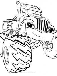 Kleurplaat Blaze Monster Truck Archidev