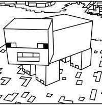 minecraft kleurplaat dieren 25 gratis te printen minecraft