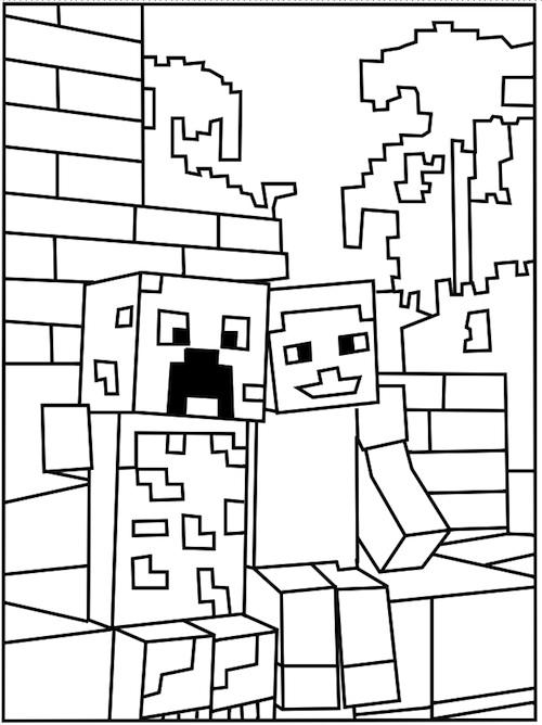 minecraft-kleurplaat-2
