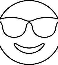 Kleurplaten Zonnebril.Emoji Kleurplaten Topkleurplaat Nl