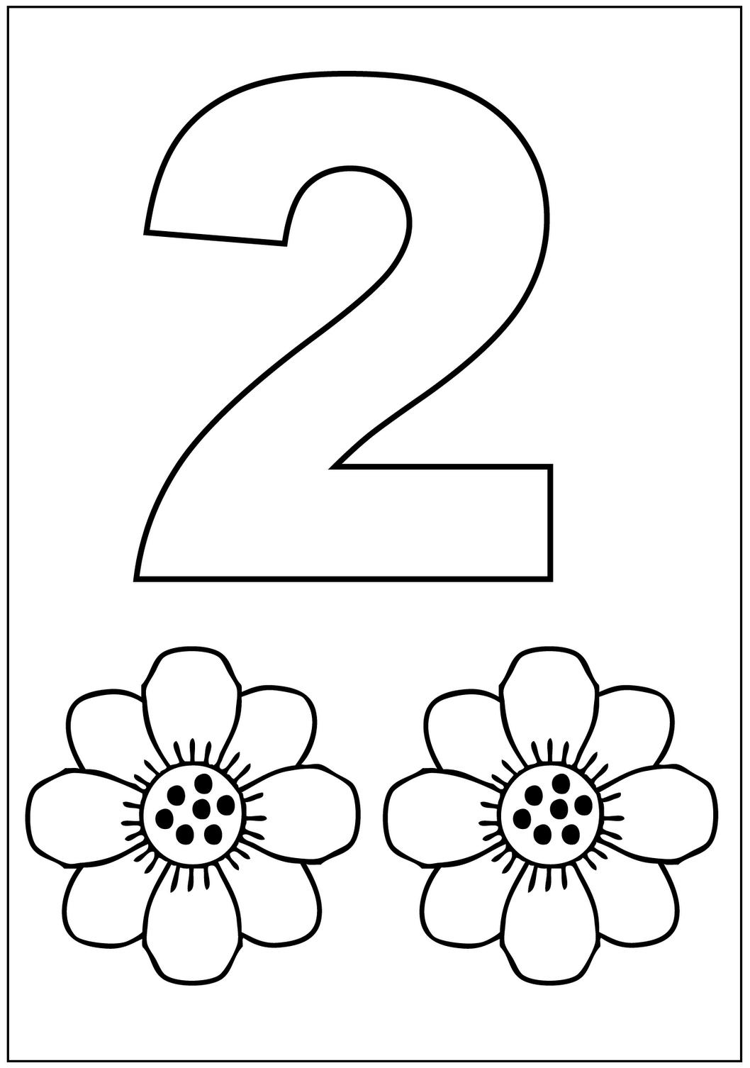 kleurplaat cijfer 2 topkleurplaat nl