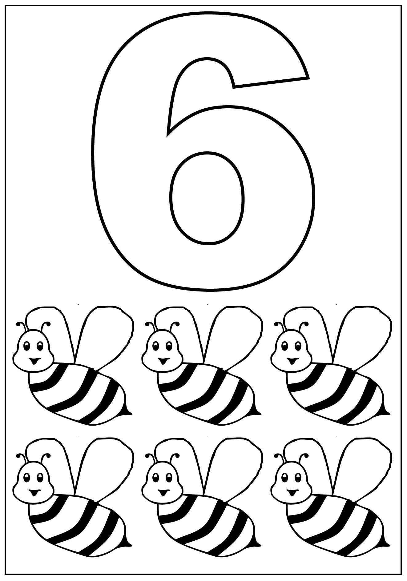 Kleurplaat Cijfer 6 Topkleurplaat Nl