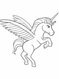 Kleurplaten Paard Met Vleugels.20 Gratis Te Kleuren Kleurplaten Eenhoorn Topkleurplaat Nl
