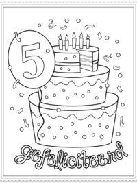 kleurplaten verjaardag nu printen kleuren