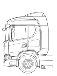 kleurplaat volvo vrachtwagen kleurplaat vrachtwagens