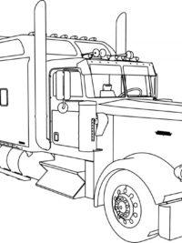 kleurplaten nl kleurplaat vrachtwagen peuter