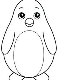 pinguin kleurplaten03 topkleurplaat nl