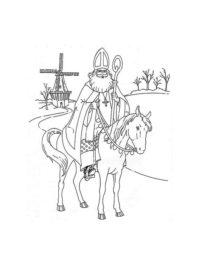 Kleurplaten Van Sinterklaas Zijn Paard.75 Sinterklaas Kleurplaten Gratis Printen En Kleuren