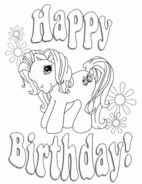 happy birthday, little pony