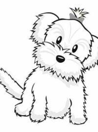 Kleurplaten Kerst Honden.Kleurplaten Hond Topkleurplaat Nl