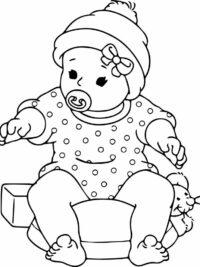 kleurplaten nl kleurplaat voor geboorte baby