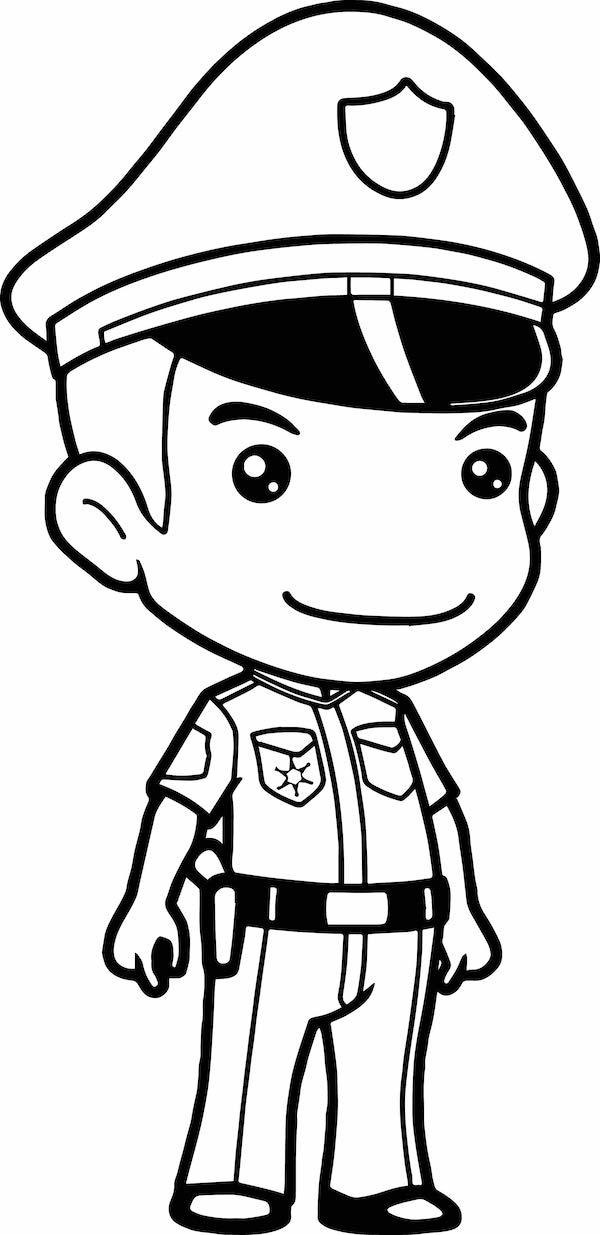 Free And Printable Anime Policeman Coloring Page