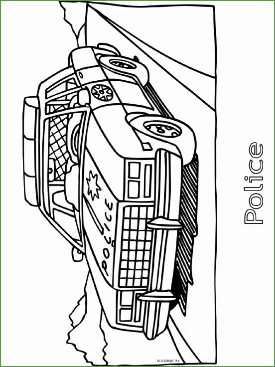 Politieauto Kleurplaat 80469 Politieauto