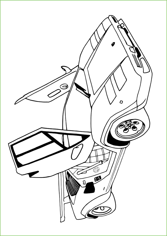 Kleurplaten auto's Lamborghini