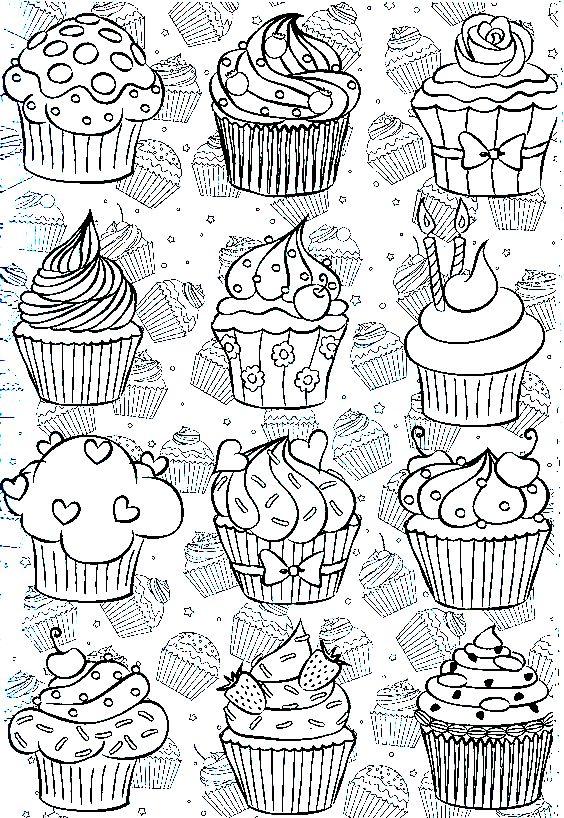 cupcakes 14 topkleurplaat nl